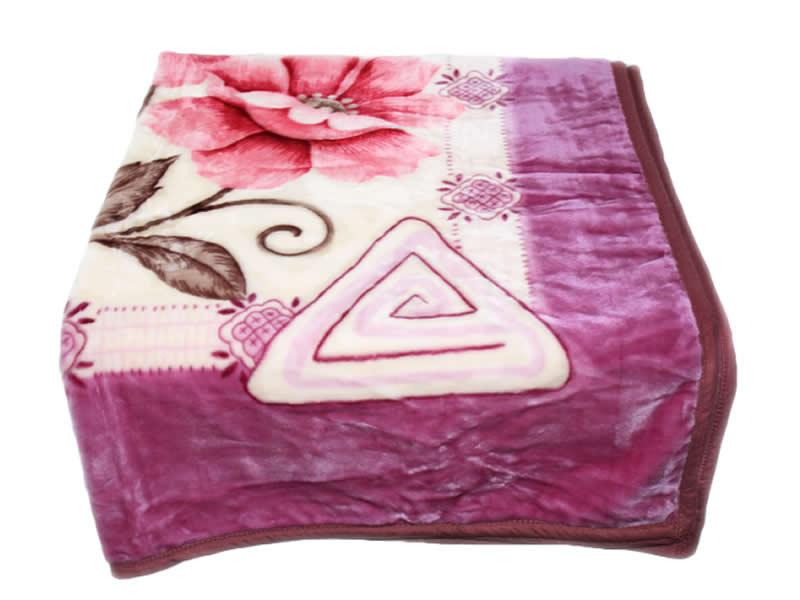 wolldecke kuscheldecke blumen pink decke 160 x 220. Black Bedroom Furniture Sets. Home Design Ideas